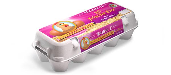 Junghennen-Eier aus Bodenhaltung – 10er Packung